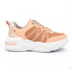 Tênis Tanara Dad Sneaker Glitter Feminino - Laranja