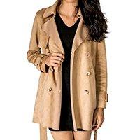 Casaco P.Coat Handbook Feminino - Bege