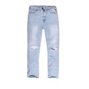 Calça Feminina Jeans High Slim Destroyed Tamanho 36