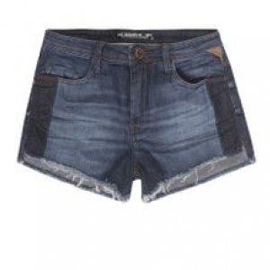 Shorts Jeans Slim Com Faixa Contrastante Na Latera Stone Esc Tamanho 40