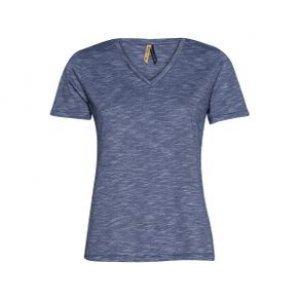 Camiseta Feminina Manga Curta Flamê Azul Tamanho P
