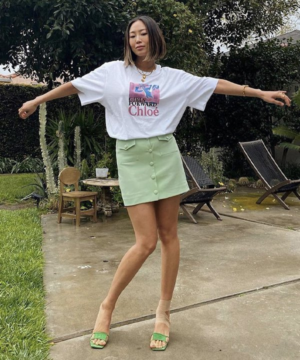 Aimee Song - como usar camiseta oversized - t-shirt oversized - verão - street style - https://stealthelook.com.br