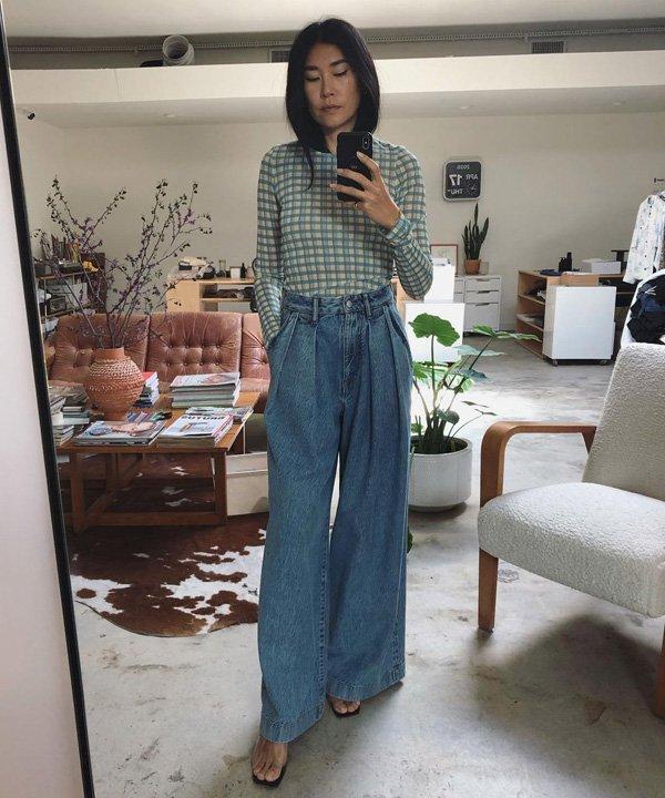 Bo Carney - como usar pantalona - pantalona jeans - verão - street style - https://stealthelook.com.br