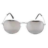 Óculos de Sol Polo London Club Redondo Espelhado Feminino - Prata
