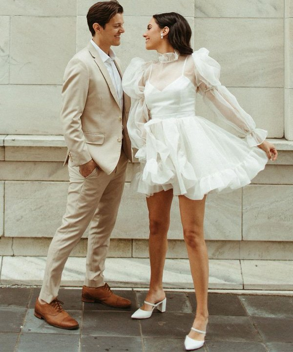 Elizabeth Harrington - tendências para as noivas - casamento 2021 - verão - street style - https://stealthelook.com.br