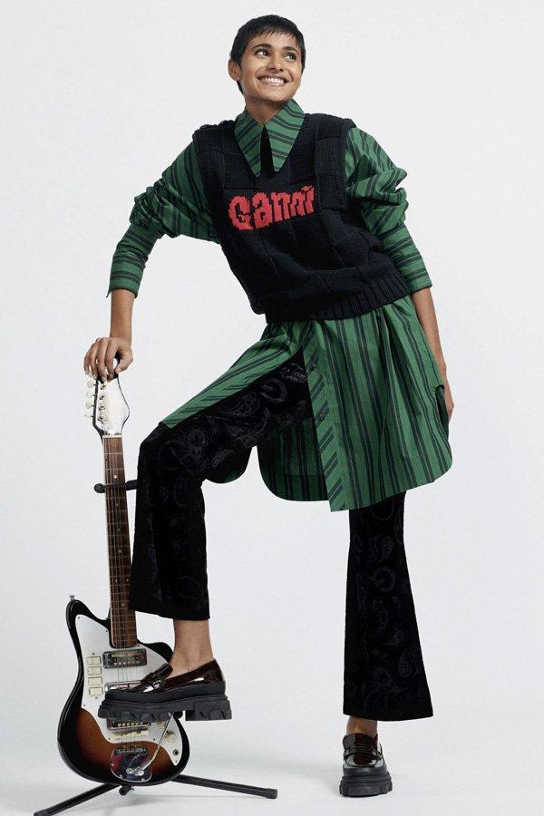 Ganni - copenhagen fashion week 2021 - semana de moda 2021 - verão - street style - https://stealthelook.com.br