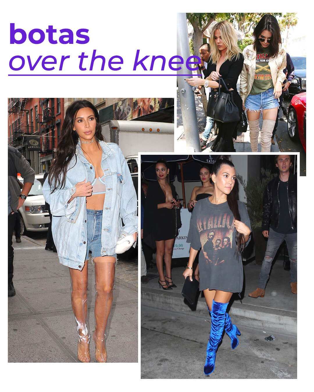 It girls - Botas - Kardashians - Verão - Street Style - https://stealthelook.com.br