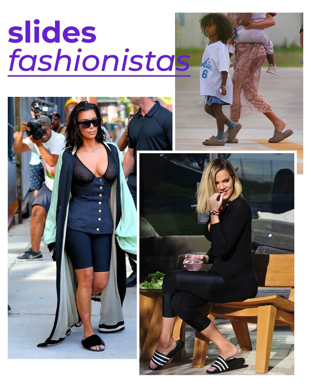 It girls - Slides - Kardashians - Verão - Street Style - https://stealthelook.com.br
