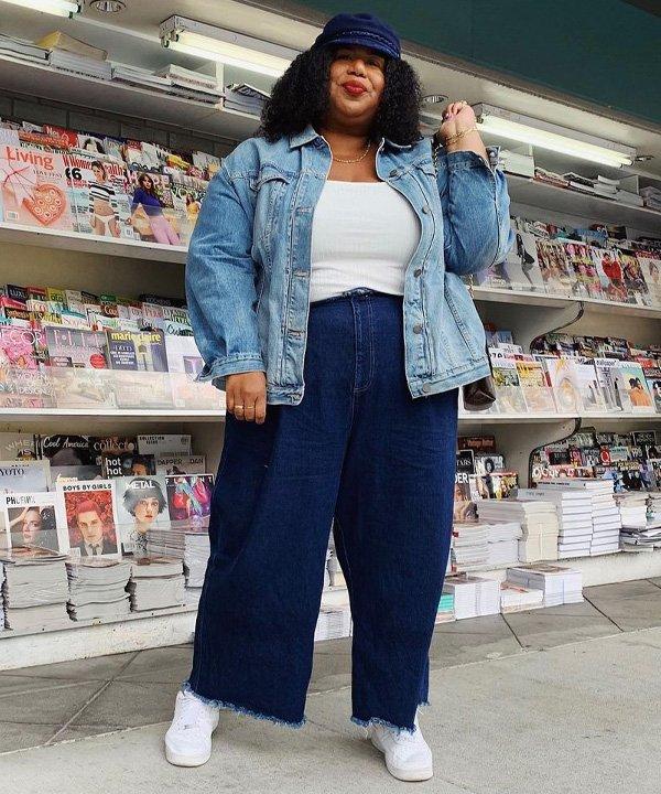 Kellie Brown - como usar pantalona - pantalona jeans - verão - street style - https://stealthelook.com.br