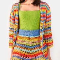 kimono crochet rainbow