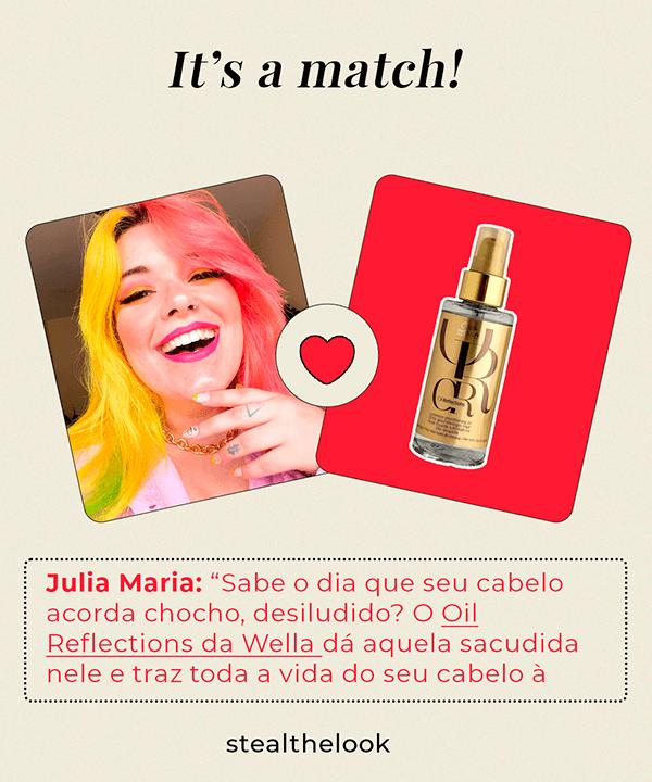 júlia Maria Vecchi - camisa lilás - óleos capilares  - verão - Em casa - https://stealthelook.com.br