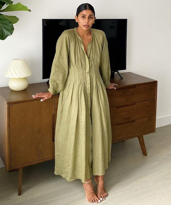 monikh dale - tons de verde em alta - verde abacate, verde musgo, verde claro, verde bandeira, verde pistache - verão - street style - https://stealthelook.com.br