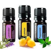 Kit doTERRA com 3 óleos essenciais (5ml cada)