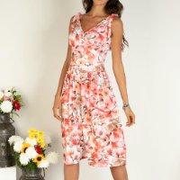 Quintess - Vestido de Alça Floral Vermelho