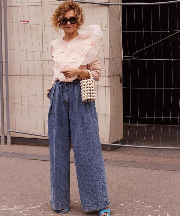 Renia Jaz - como usar pantalona - pantalona jeans - verão - street style - https://stealthelook.com.br