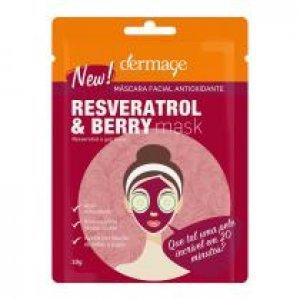 Máscara Facial Dermage Antioxidante Resveratrol E Berry Mask