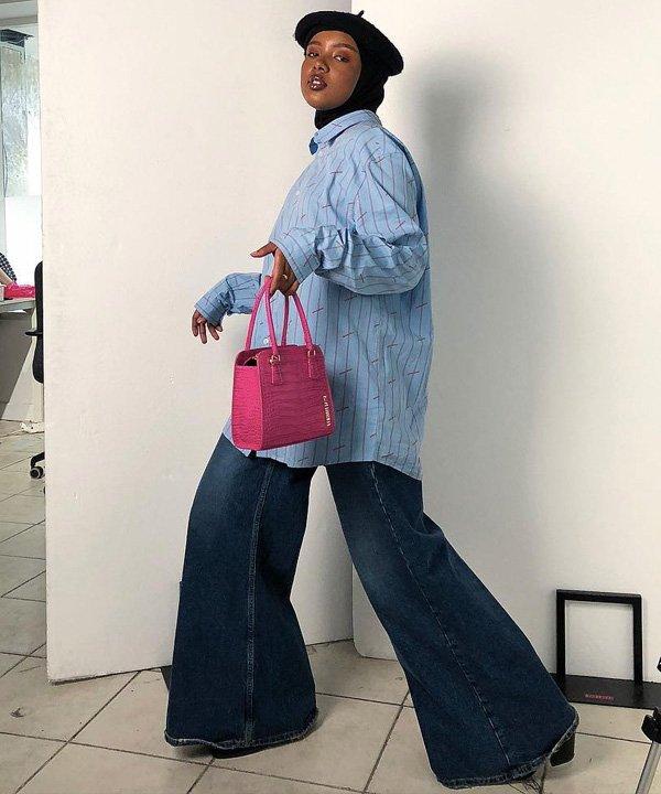 Salma JJ - como usar pantalona - pantalona jeans - verão - street style - https://stealthelook.com.br