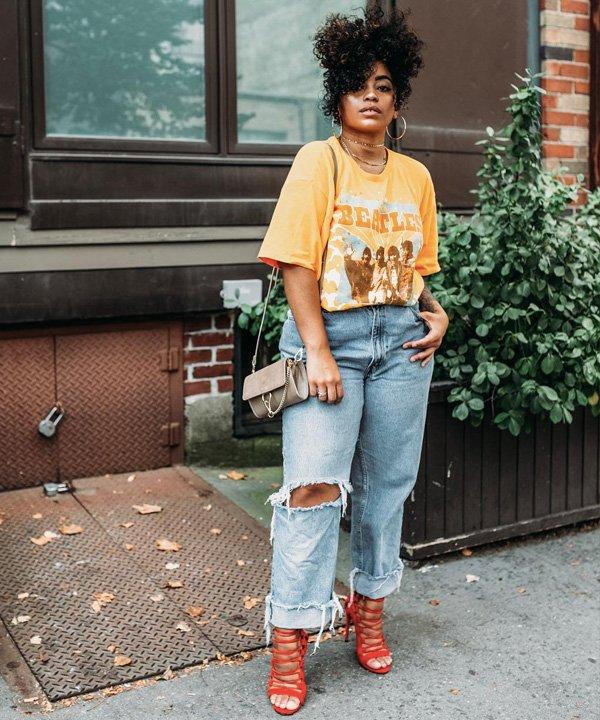 Veronica Bonilla - como usar camiseta oversized - t-shirt oversized - verão - street style - https://stealthelook.com.br