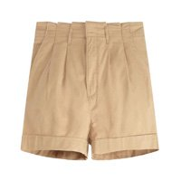 Shorts Levis Pleated Tencel - Bege