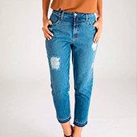 Calça Mom - Corfu - Santé Denim Feminina - Jeans