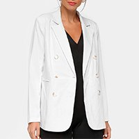 Blazer Eagle Rock Liso Feminino - Off White
