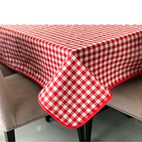 Toalha de mesa retangular xadrez vermelho branco 2,20 x 1,50