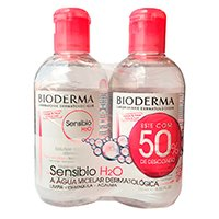 Sensibio H2O Água Micelar Calmante Bioderma - 2x 250ml