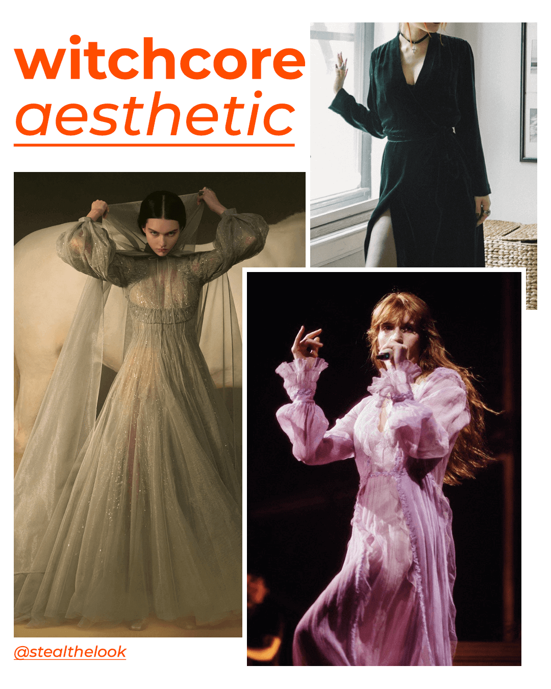 Christian Dior, Florence Welch, Luanna - tendências core aesthetic - kidcore cottagecore witchcore  - outono - street style - https://stealthelook.com.br