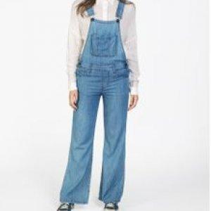 Jardineira Feminina Jeans Pantalona Stone Cl Tamanho 36
