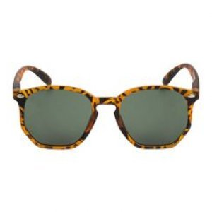 Óculos De Sol Hexagonal Acetato Tartaruga Tamanho U