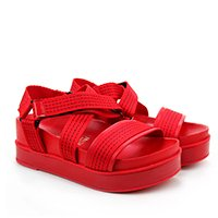 Papete Flatform Vizzano Feminina - Vermelho