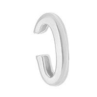 Piercing De Encaixe Clair Tubo Folheado Em Ródio Branco