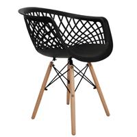 Kit 4 cadeiras web preta - Tifani
