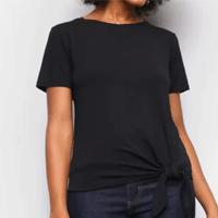 Camiseta Dooplex Amarração Feminina - Preto
