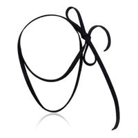 Cordão tipo Choker Sintético Preto sem fecho - Preto