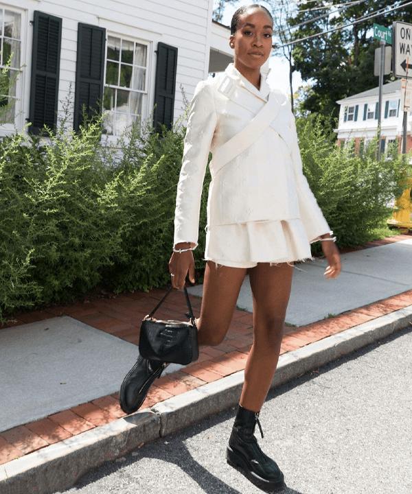 Chrissy Rutherford - bota tratorada - sapatos - outono - street style - https://stealthelook.com.br