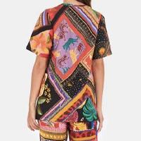 t-shirt misturinha de lenços