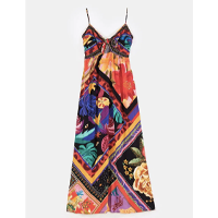vestido cropped misturinha de lenço