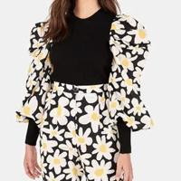 blusa tricot tecido flor