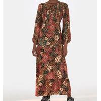 vestido longo onca florida