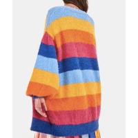 casaco casulo listras rainbow
