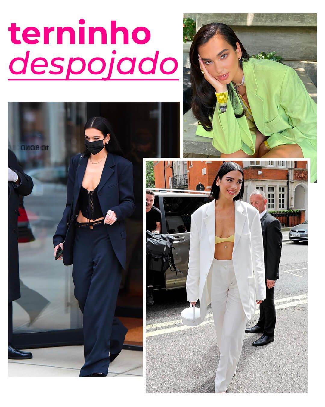 It girls - Alfaiataria - Dua Lipa - Outono - Street Style - https://stealthelook.com.br