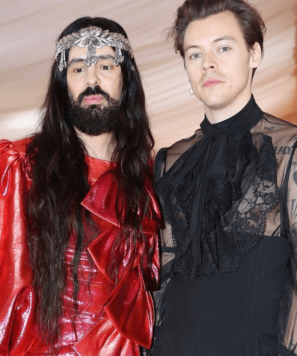 Alessandro Michele, Harry Styles - Gucci - história da moda - outono - street style - https://stealthelook.com.br