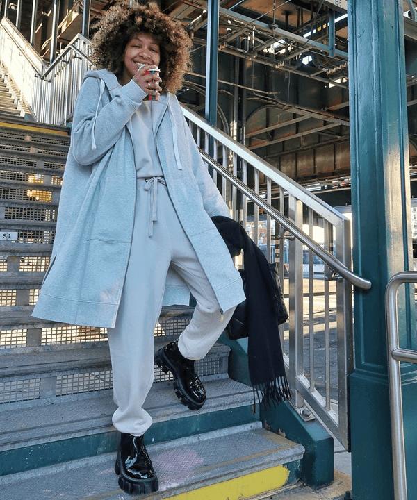Karen Blanchard - bota tratorada - sapatos - outono - street style - https://stealthelook.com.br