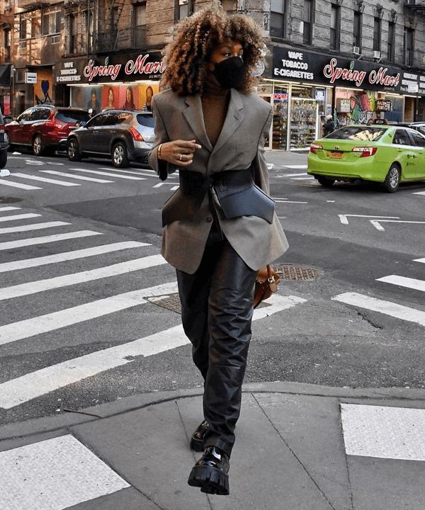 Karen Blanchard - tendências dos anos 80 - looks anos 80 - outono - street style - https://stealthelook.com.br