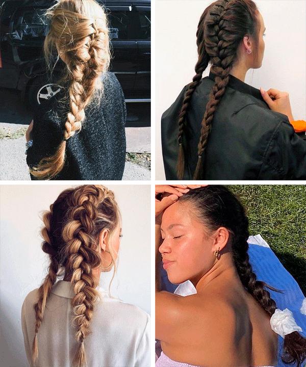 Anna Van der Geest - cabelos - tranças - verão - em-casa - https://stealthelook.com.br
