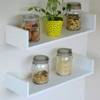 Prateleira Para Cozinha Decorativa Kit 2 Peças - Pabimi