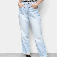 Calças Jeans Adverso Feminino Mom132044 - Azul Claro