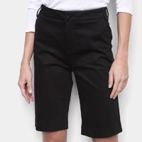 Bermuda Calvin Klein Alfaiataria Feminina - Preto