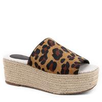 Tamanco Couro Shoestock Flatform Corda - Onça